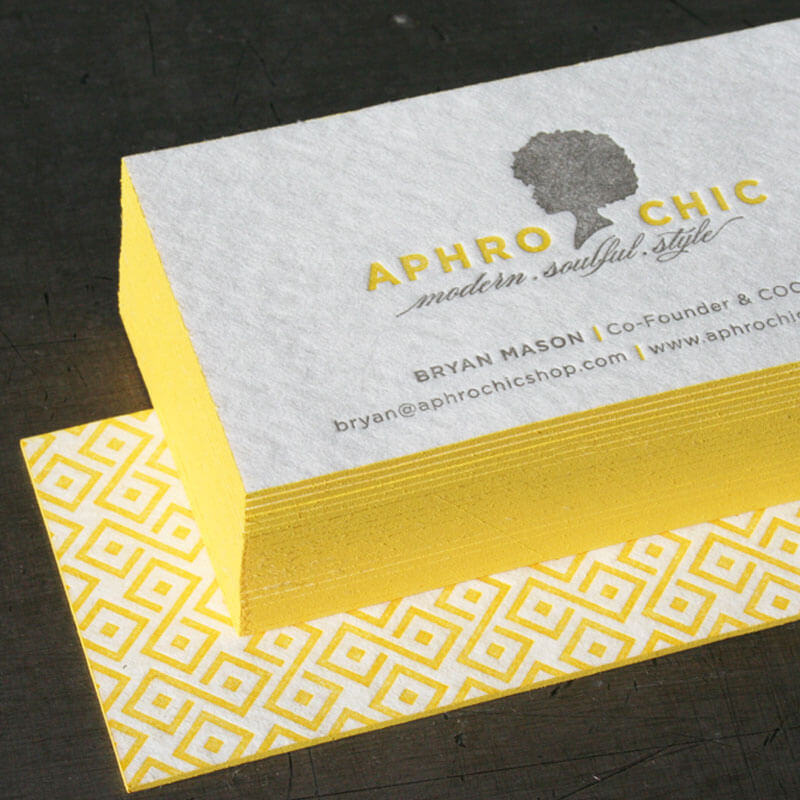 letterpress business card print