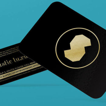 luxury black plastic business cards