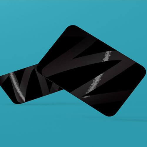 spot uv gloss luxury plastic business cards