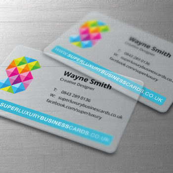 luxury plastic business cards