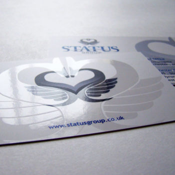 velvet spot uv gloss business cards