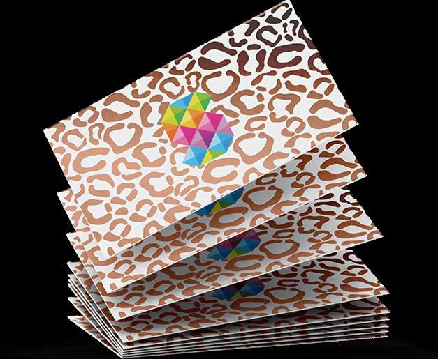 foiled velvet business cards 800gsm