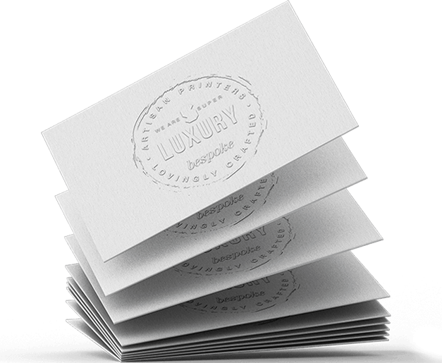 debossed business cards  super luxury business cards