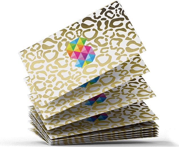 gold foiled business cards 450gsm