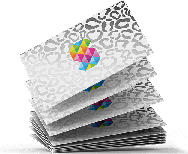 silver foiled business cards