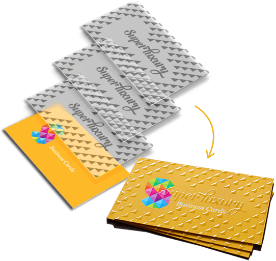triple layer spot uv gloss business cards