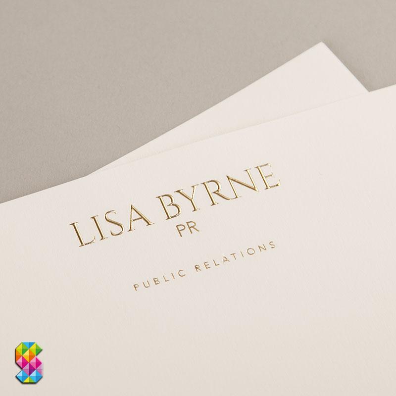 foil embossed letterheads