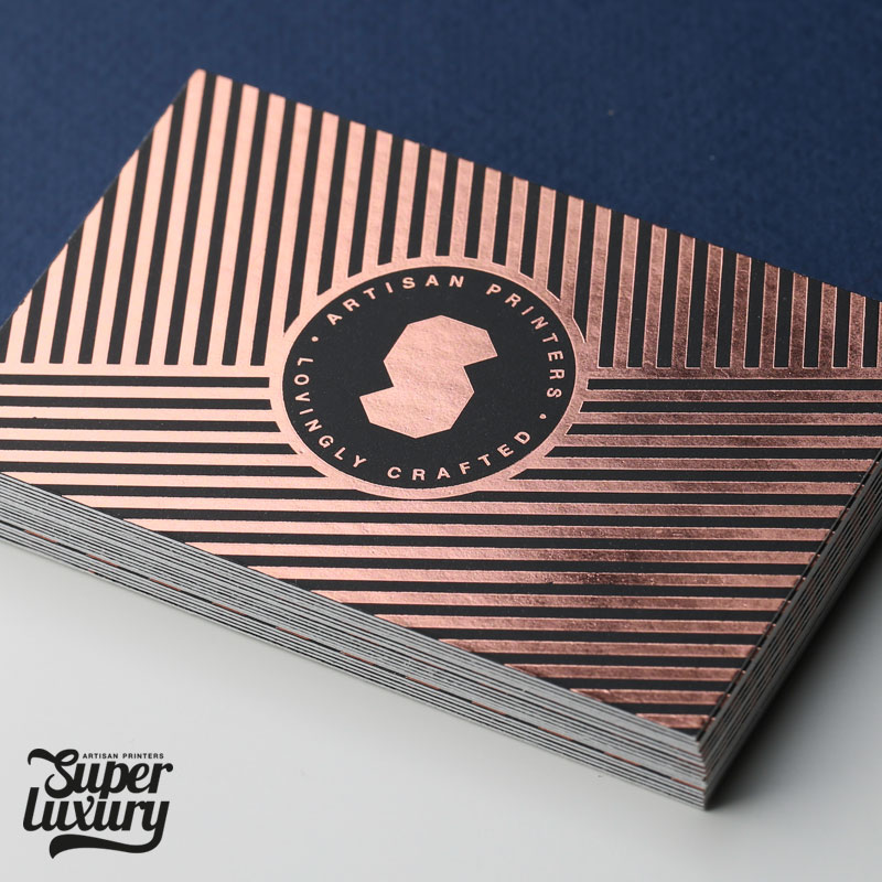 printed foil business cards