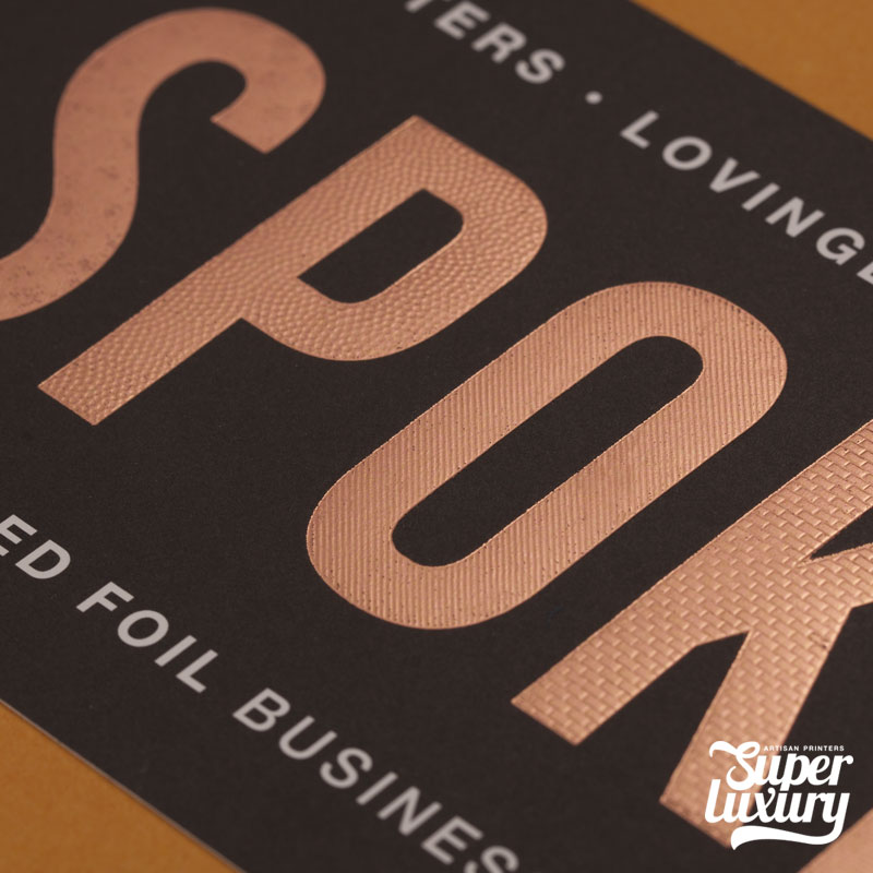 Textured Foil Business Cards